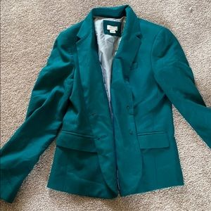Green Jcrew Blazer